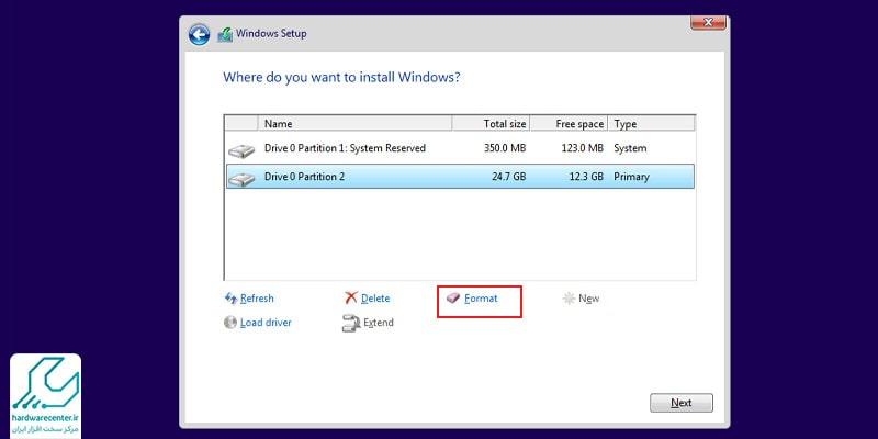 فرمت کردن لپ تاپ hp با دیسک نصب
