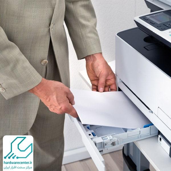 تنظیمات کاغذ چاپگر hp